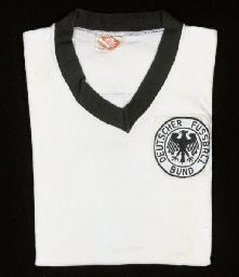 A WHITE WEST GERMANY SHORT-SLE