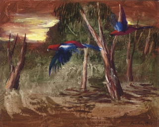 Parrots in the Bush