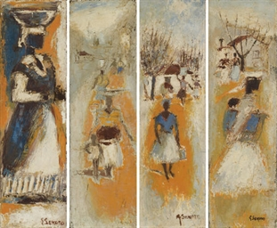 Village -- four studies