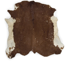 TWO COWHIDE RUGS