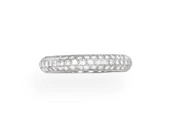 A DIAMOND ETERNITY BAND, BY CA