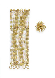A SET OF GOLD JEWELRY, BY CART