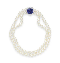 A TWO-STRAND CULTURED PEARL, T