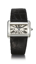 CARTIER. A STAINLESS STEEL REC