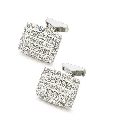 PIAGET. A PAIR OF 18K WHITE GO