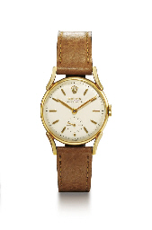 ROLEX. A 9K GOLD WRISTWATCH