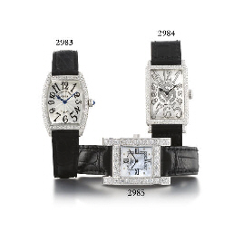CHOPARD. AN 18K WHITE GOLD AND
