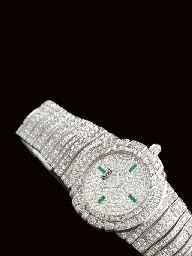 PIAGET. A SUPERB 18K WHITE GOL