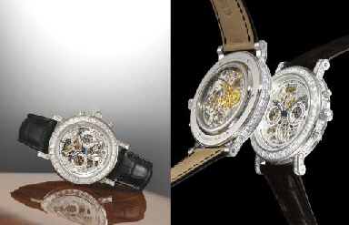 BREGUET AN EXTREMELY FINE 18K WHITE GOLD AND DIAMOND-SET SEK...