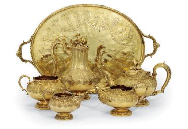 A FIVE-PIECE GEORGE IV AND LAT