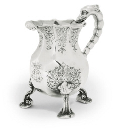 A GEORGE I SILVER CREAM-JUG