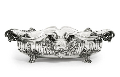 A FRENCH SILVER JARDINIERE