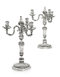 A PAIR OF LOUIS XVI SILVER THR
