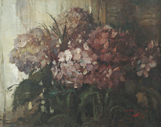 Still life of Hortensias