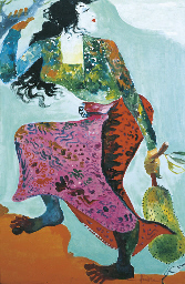 Girl with jackfruit