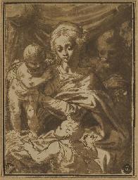La Sainte Famille avec le peti