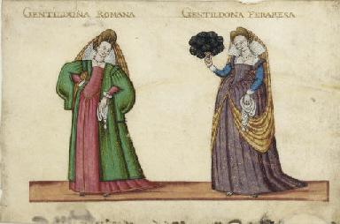 Deux courtisanes, l'une romain
