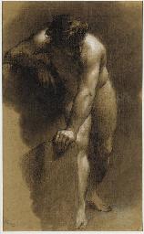 Académie d'homme nu, la main a