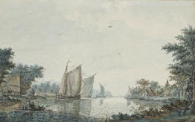 Des voiliers et une barque au