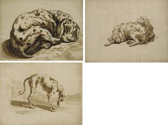 Un chien endormi (recto); Un c