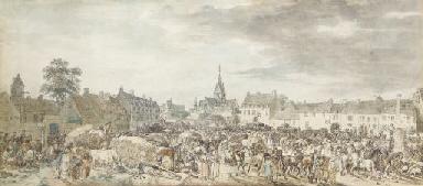 La place du marché d'une ville