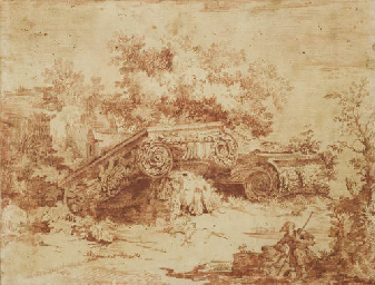Ruines de chapiteaux corinthie
