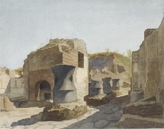 Vue de Pompéi, avec les moulin