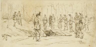 Un enterrement militaire en Ho