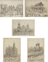 Divers pavillons de l'expositi