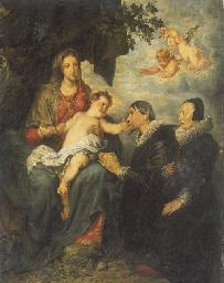 Vierge à l'Enfant avec des don