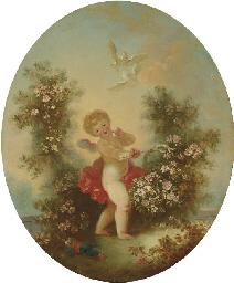 Cupidon dans un paysage