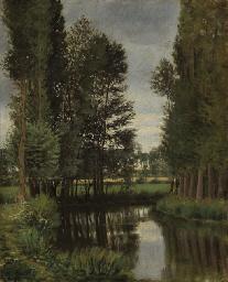Un cours d'eau bordé d'arbres