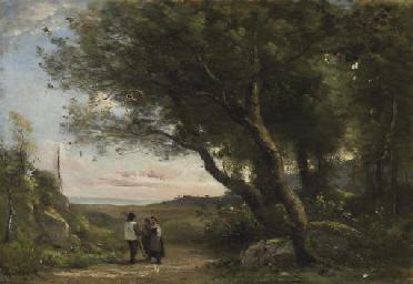 Deux bergers dans la forêt