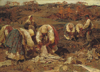 The Potato harvest in Beloruss