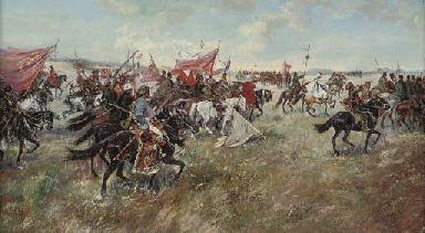 Cossacks riding into battle