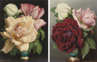 Roses in a vase; and Another s