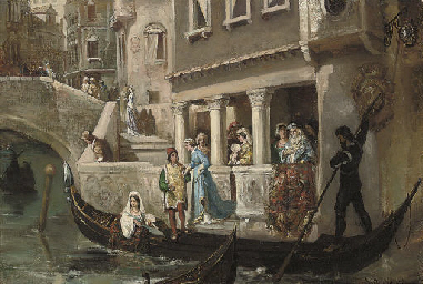 Dignitaries boarding a gondola