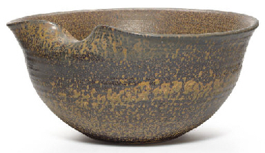 A Large Japanese Stoneware Bow