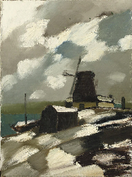 Molen in de winter