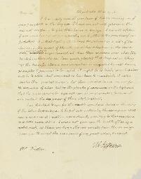 JEFFERSON, Thomas. Autograph l