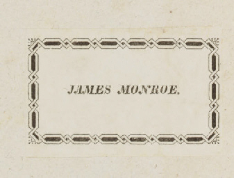 [MONROE, James]. NECKER, Jacqu