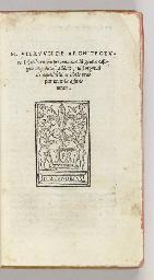 VITRUVIUS Pollio, Marcus. De A