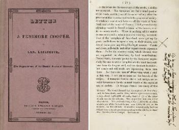 COOPER, James Fenimore. Letter