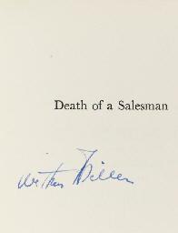 MILLER, Arthur (1915-2005). De
