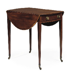 A GEORGE III MAHOGANY AND TULI