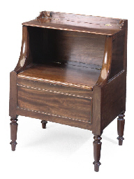 A GEORGE III MAHOGANY COMMODE