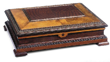 A BRAZILIAN MAHOGANY WINE BOX