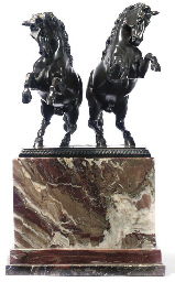 A GERMAN BRONZE GROUP OF TWO R
