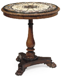 A GEORGE IV ROSEWOOD PIETRA DU