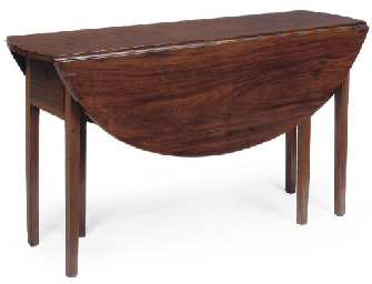 A MAHOGANY WAKE TABLE
